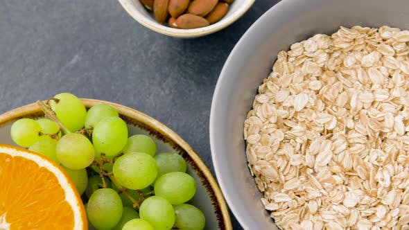 Thumbnail for Healthy Breakfast of Oatmeal and Other Food