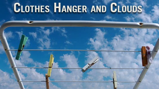 Thumbnail for Clothes Hanger and Clouds Time Lapse