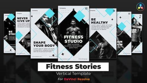 Fitness Stories | DaVinci Resolve Template | Vertical