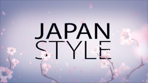 Japan Style Intro - Romantic Titles Text Animation Promo