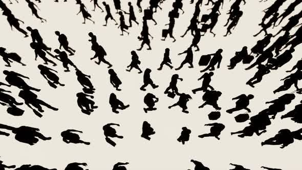 Thumbnail for People Crowd Silhouettes Background