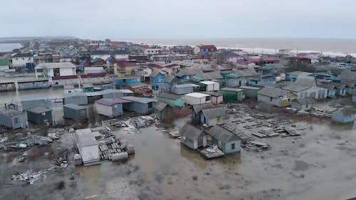 Destroyed Houses in the Water