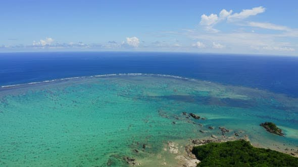 Cover Image for Aerial view of ishigaki island