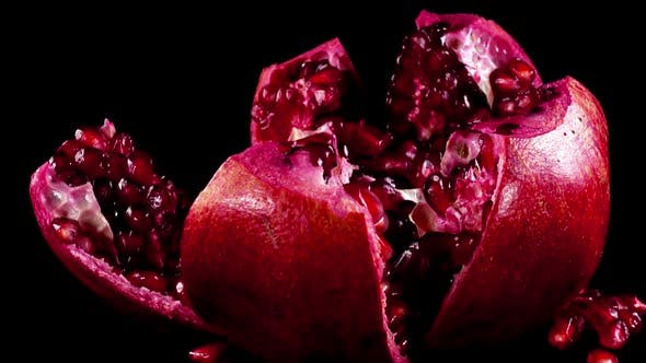 Thumbnail for Pomegranate on a Black Background