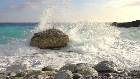 Thumbnail for Spray Surf on a Rocky Shore