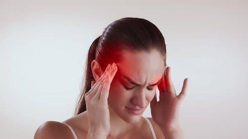 Headache, Migraine, Overwork and Meningitis Concept