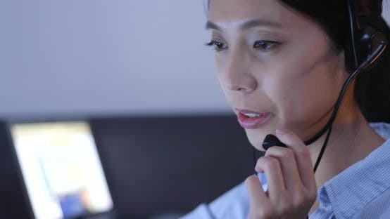 Thumbnail for Customer services answer call