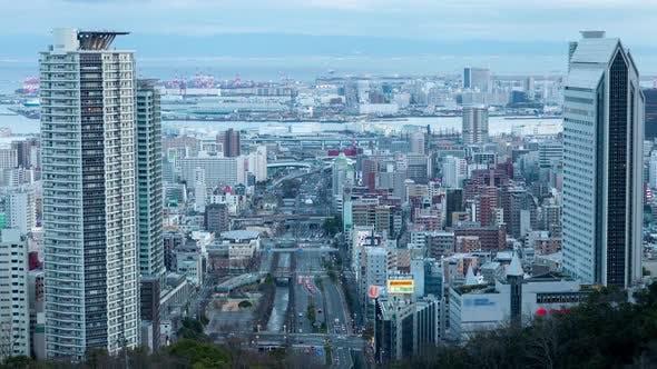 Cover Image for Kobe Skyscraper Tower City Roads Traffic Japan