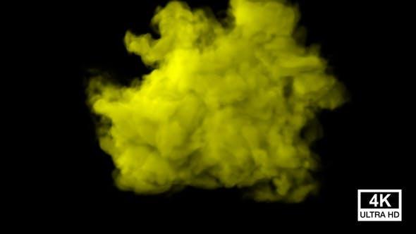 Thumbnail for Huge Yellow Color Smoke 4K