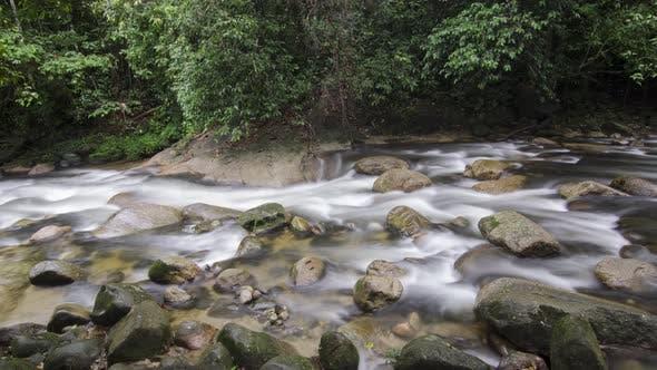 Waterfall, rock stone and jungle at Sungai Sedim, Kedah, Malaysia.
