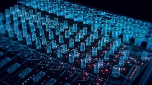 Soundboard Hologram Close Up 4k