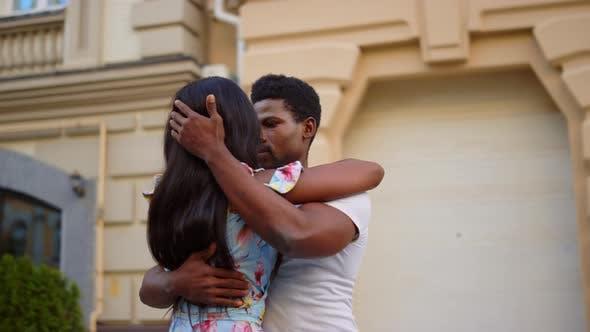 Heiße Afrikanische Paar Tanzen Stadt