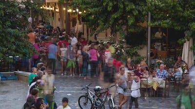 4K Timelapse of Monastiraki Square, Athens, Greece