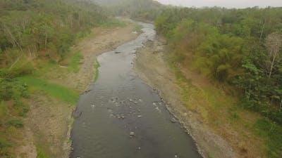 Tropical Landscape River Farmers Land