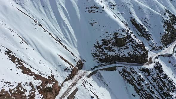 Thumbnail for Aerial Shot of Beautiful Snow Covered Mountains