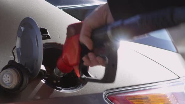 Filling Car Tank with Fuel