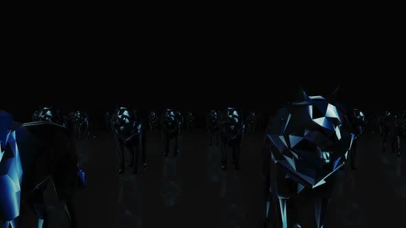 Wolf Neon Hd