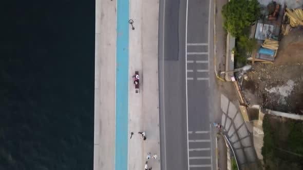 Thumbnail for Walking People Coastline