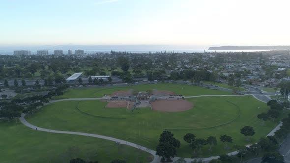 Aerial of Coronado Tidelands Park