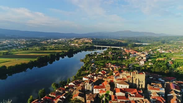 Thumbnail for Aerial View of Tuí City in Spain