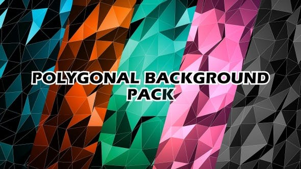 Thumbnail for Low Poly Background Pack V3