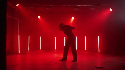Dancing Dude In Suit In Stage