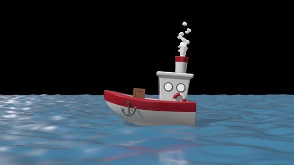 Cartoon Ship 03