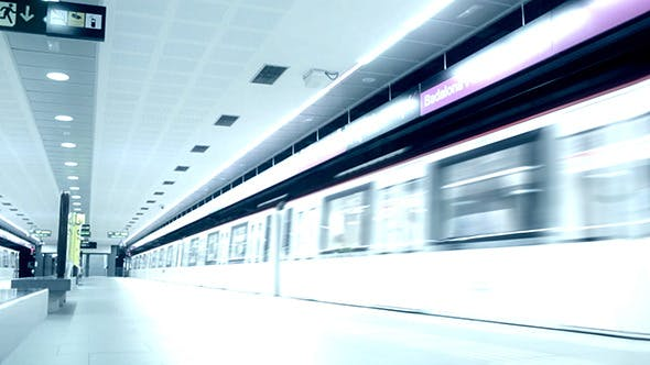 Thumbnail for Time Lapse Subway And Passengers