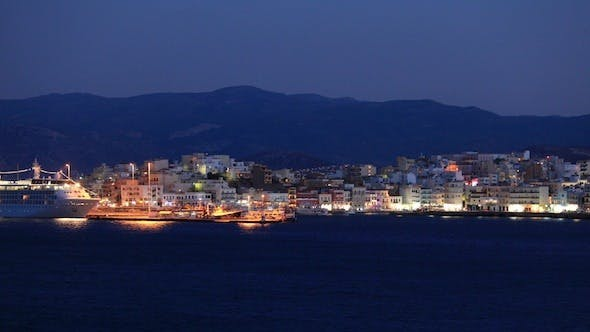 Thumbnail for Evening View Of Agios Nikolaos City Across The Bay