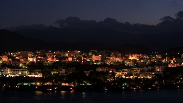 Thumbnail for Evening View Of Agios Nikolaos City Across The Bay 2