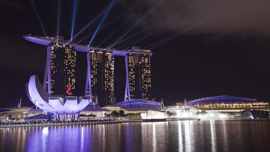 Thumbnail for Marina Bay Sand Singapore Skyline Timelapse
