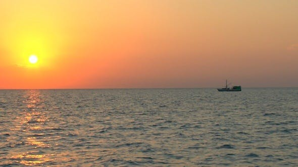 Thumbnail for Sunset And Fishing Boat, Cuba