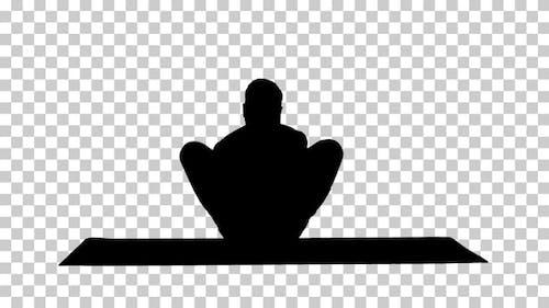 Silhouette Mann läuft, Alpha Channel