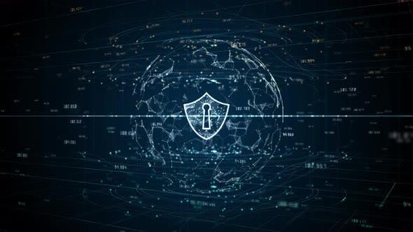 Shield Of Cyber Security Digital Data Network 930