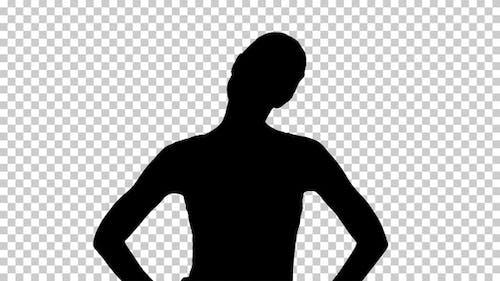Silhouette Frau zu Fuß, Alpha-Kanal