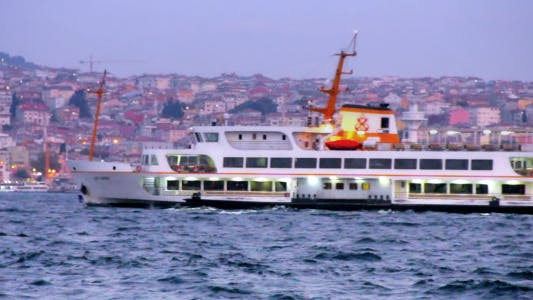 Thumbnail for Istanbul Bosphorus Ferry And Boat Night Time