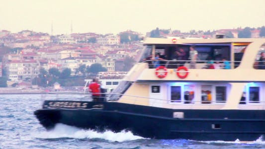 Cover Image for Ferry And Big Boat At Bosphorus Istanbul