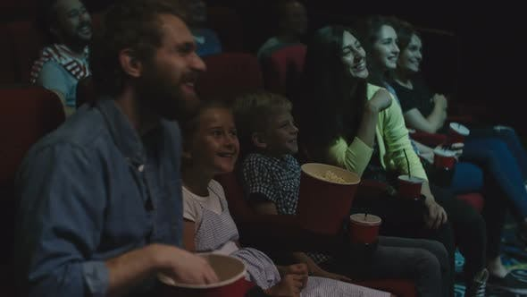 Family Weekend in Movie Theater