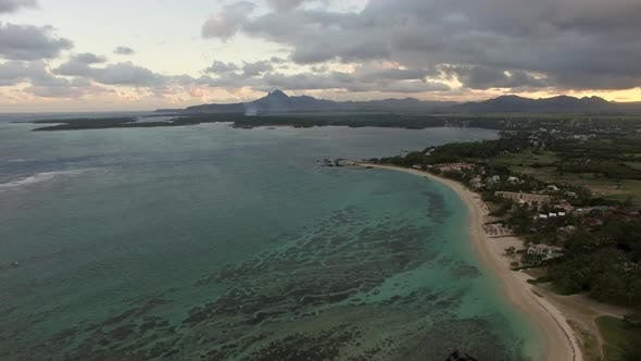 Cover Image for Aerial View of Coast Line of Mauritius Island