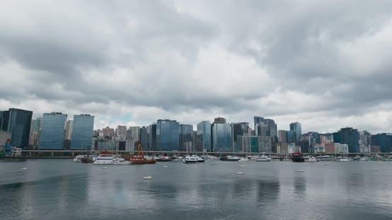 Thumbnail for Hong Kong skyline, timelapse
