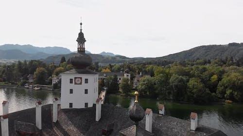 Scenic View on Gmunden Schloss Ort