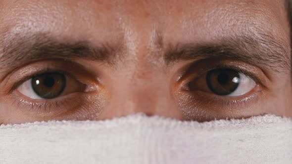 Thumbnail for Portrait of Young Man in Protective Gauze Mask, Protection Coronavirus COVID-19