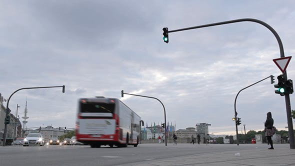 Thumbnail for Crossroads, Traffic Lights And Pedestrians