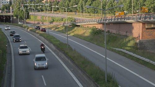 Autobahn In Hamburg, Time Lapse