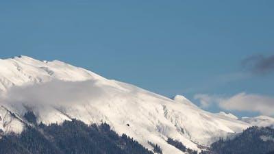 Snow Mountain Peaks Time Lapse