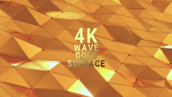 Wave Gold Surface