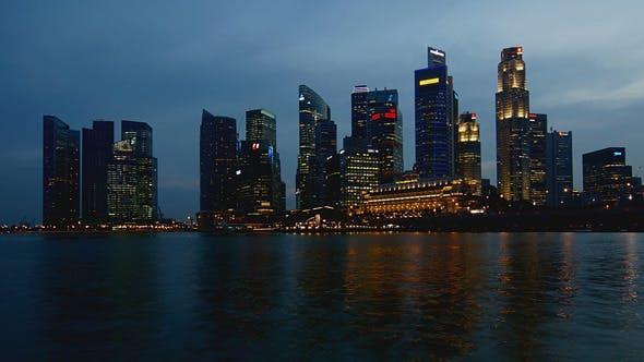 Thumbnail for Night Singapore Skyline