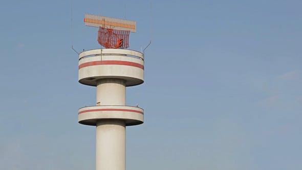 Airport Tower In Hamburg
