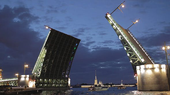 Thumbnail for The Palace Bridge In Saint Petersburg