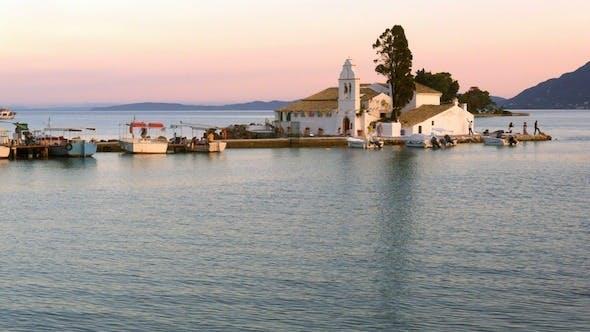 Thumbnail for Time Lapse: Vlacherna Church Before Sunset, Corfu